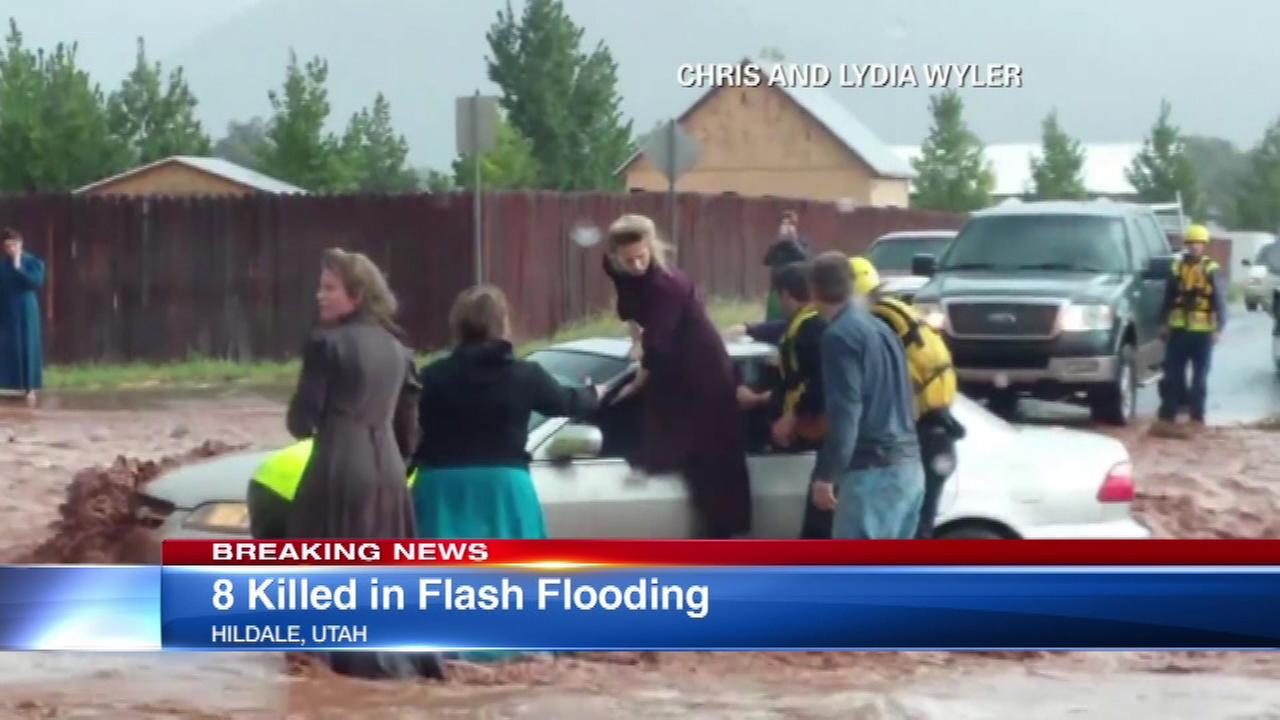 Flash flooding at the Utah, Arizona border.