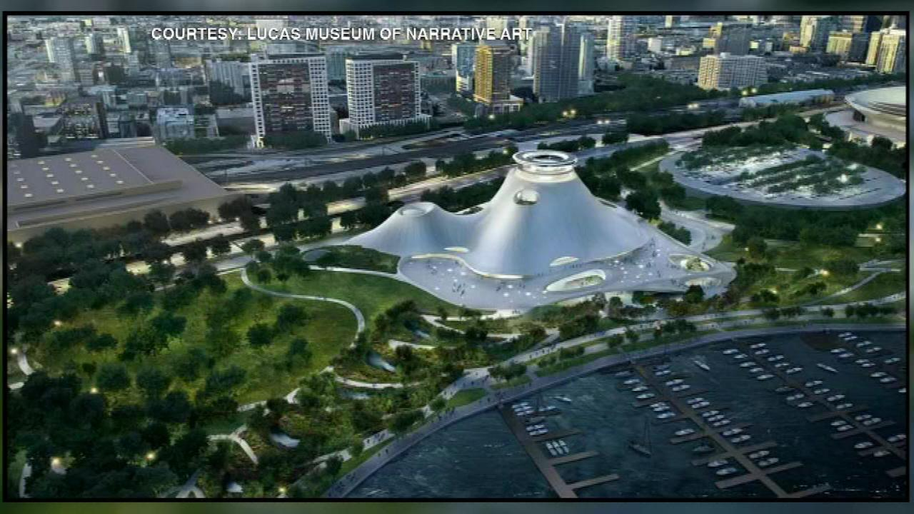Renderings offer a new look at the proposed Lucas Museum along Chicagos lakefront.