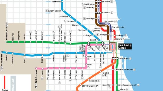 Cta blue line train strikes person at kedzie homan station on west cta train map showing red blue green brown pink orange lines sciox Gallery