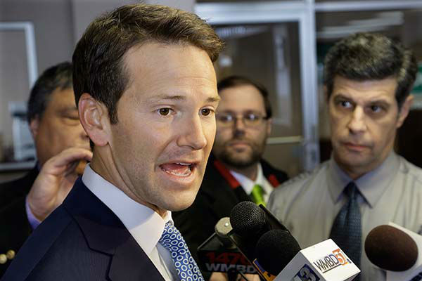 <div class='meta'><div class='origin-logo' data-origin='none'></div><span class='caption-text' data-credit='AP Photo/ Seth Perlman'>In this Feb. 6, 2015 file photo, Rep. Aaron Schock, R-Ill. speaks to reporters in Peoria Ill.</span></div>