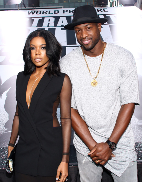 "<div class=""meta image-caption""><div class=""origin-logo origin-image ap""><span>AP</span></div><span class=""caption-text"">Gabrielle Union, left, and Dwyane Wade arrive at the Los Angeles premiere of ""Straight Outta Compton"" at the Microsoft Theater on Monday, Aug. 10, 2015. (John Salangsang/Invision/AP)</span></div>"
