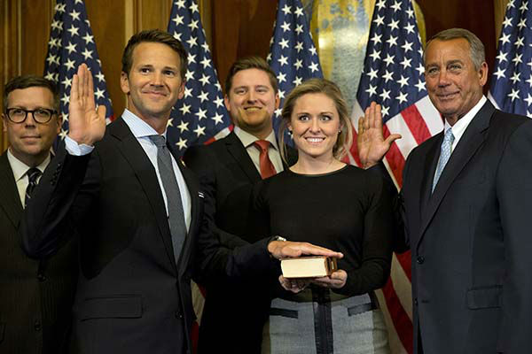 <div class='meta'><div class='origin-logo' data-origin='none'></div><span class='caption-text' data-credit='AP Photo/ Jacquelyn Martin'>House Speaker John Boehner of Ohio administers a re-enactment of the House oath to Rep. Aaron Schock, R-Ill.</span></div>