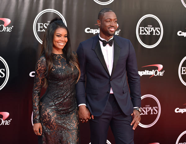 "<div class=""meta image-caption""><div class=""origin-logo origin-image ap""><span>AP</span></div><span class=""caption-text"">NBA player Dwyane Wade, right, and Gabrielle Union arrive at the ESPY Awards at the Microsoft Theater on Wednesday, July 13, 2016, in Los Angeles. (Jordan Strauss/Invision/AP)</span></div>"