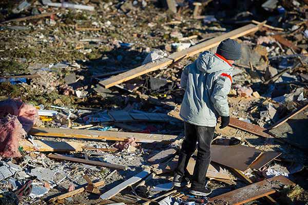 it was leveled Nov. 17, 2013, by a tornado. (AP Photo/ Kara Kamienski