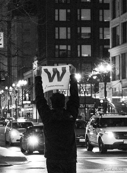 <div class='meta'><div class='origin-logo' data-origin='none'></div><span class='caption-text' data-credit='Kian Krashesky'>Cubs fans celebrate historic World Series win in downtown Chicago on Nov. 3, 2016.</span></div>