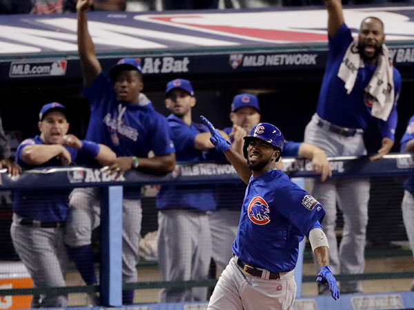 "<div class=""meta image-caption""><div class=""origin-logo origin-image none""><span>none</span></div><span class=""caption-text"">Chicago Cubs' Dexter Fowler celebrates after a home run against the Cleveland Indians during the first inning of Game 7. (AP Photo/Charlie Riedel)</span></div>"