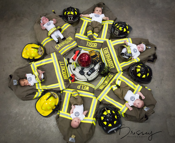 <div class='meta'><div class='origin-logo' data-origin='none'></div><span class='caption-text' data-credit='Debbie Brissey'>Six babies were born to the same firefighting family within seven months, three girls and three boys.</span></div>