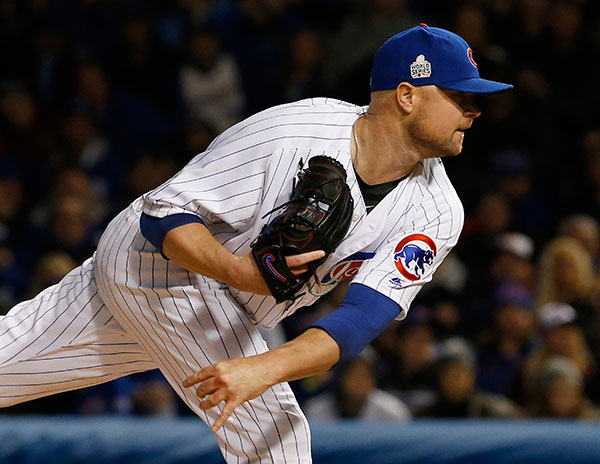 <div class='meta'><div class='origin-logo' data-origin='none'></div><span class='caption-text' data-credit='AP Photo/Nam Y. Huh'>Chicago Cubs starting pitcher Jon Lester throws during the first inning of Game 5.</span></div>
