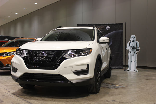"<div class=""meta image-caption""><div class=""origin-logo origin-image wls""><span>WLS</span></div><span class=""caption-text"">The 2017 Nissan Rogue One Star Wars Limited Edition in Stormtrooper White on display at the Concept and Technology Garage event at the 2017 Chicago Auto Show on Feb. 8, 2017.</span></div>"