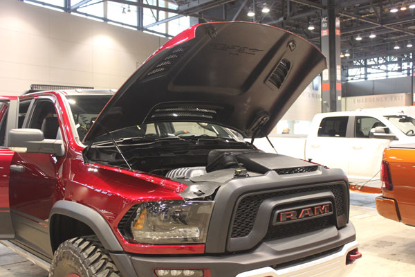 "<div class=""meta image-caption""><div class=""origin-logo origin-image wls""><span>WLS</span></div><span class=""caption-text"">Under the hood of the 2017 Dodge Ram Rebel TRX concept on display at the Concept and Technology Garage event at the 2017 Chicago Auto Show on Feb. 8, 2017.</span></div>"