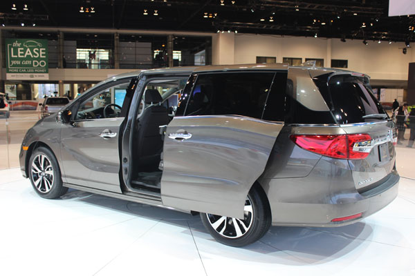 "<div class=""meta image-caption""><div class=""origin-logo origin-image wls""><span>WLS</span></div><span class=""caption-text"">The 2018 Honda Odyssey on display at the 2017 Chicago Auto Show on Feb. 9, 2017.</span></div>"