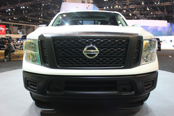 <div class='meta'><div class='origin-logo' data-origin='WLS'></div><span class='caption-text' data-credit=''>Front view of the 2017 Nissan Titan on display at the 2017 Chicago Auto Show on Feb. 9, 2017.</span></div>