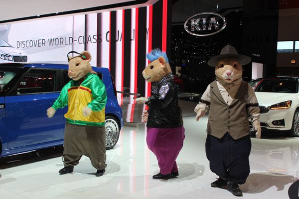 <div class='meta'><div class='origin-logo' data-origin='WLS'></div><span class='caption-text' data-credit=''>The Hamstars show off their moves in front of the 2017 Kia Soul at the 2017 Chicago Auto Show on Feb. 9, 2017.</span></div>