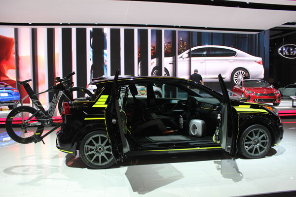<div class='meta'><div class='origin-logo' data-origin='WLS'></div><span class='caption-text' data-credit=''>The 2017 Kia Niro Triathlon concept on display at the 2017 Chicago Auto Show on Feb. 9, 2017.</span></div>