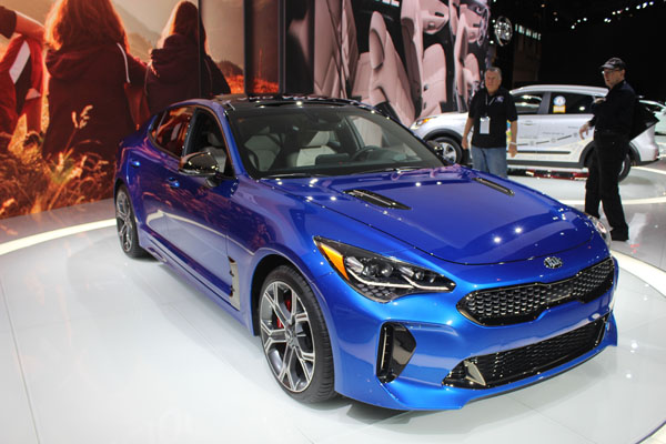 <div class='meta'><div class='origin-logo' data-origin='WLS'></div><span class='caption-text' data-credit=''>Front view of the 2018 Kia Stinger on display at the 2017 Chicago Auto Show on Feb. 9, 2017.</span></div>