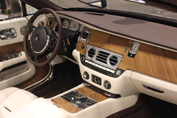 <div class='meta'><div class='origin-logo' data-origin='WLS'></div><span class='caption-text' data-credit=''>Interior view of the Rolls-Royce Dawn on display at the 2017 Chicago Auto Show on Feb. 10, 2017.</span></div>