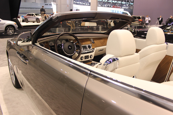 <div class='meta'><div class='origin-logo' data-origin='WLS'></div><span class='caption-text' data-credit=''>The Rolls-Royce Dawn on display at the 2017 Chicago Auto Show on Feb. 10, 2017.</span></div>