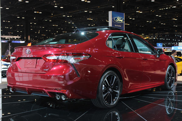<div class='meta'><div class='origin-logo' data-origin='WLS'></div><span class='caption-text' data-credit=''>The 2018 Toyota Camry on display at the 2017 Chicago Auto Show on Feb. 9, 2017.</span></div>