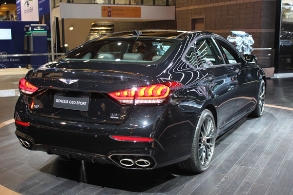 <div class='meta'><div class='origin-logo' data-origin='WLS'></div><span class='caption-text' data-credit=''>The 2018 Genesis G80 on display at the 2017 Chicago Auto Show on Feb. 9, 2017.</span></div>