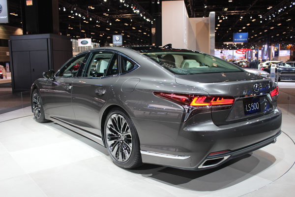 <div class='meta'><div class='origin-logo' data-origin='WLS'></div><span class='caption-text' data-credit=''>The 2018 Lexus LS500 on display at the 2017 Chicago Auto Show on Feb. 9, 2017.</span></div>