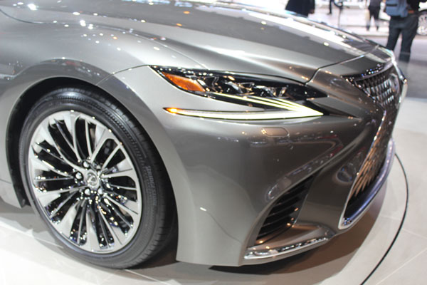 "<div class=""meta image-caption""><div class=""origin-logo origin-image wls""><span>WLS</span></div><span class=""caption-text"">Close-up on the 2018 Lexus LS500 on display at the 2017 Chicago Auto Show on Feb. 9, 2017.</span></div>"
