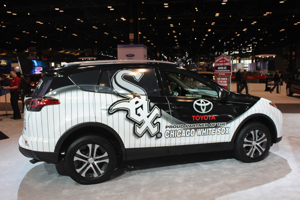 <div class='meta'><div class='origin-logo' data-origin='WLS'></div><span class='caption-text' data-credit=''>The Chicago White Sox Toyota RAV4 on display at the 2017 Chicago Auto Show on Feb. 10, 2017.</span></div>