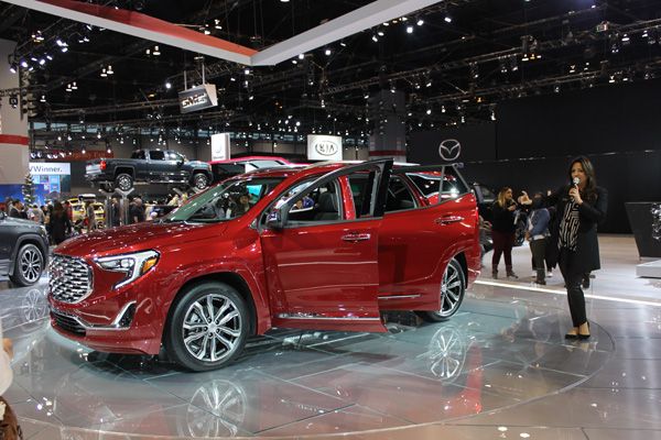 <div class='meta'><div class='origin-logo' data-origin='WLS'></div><span class='caption-text' data-credit=''>The all-new 2018 GMC Terrain at the 2017 Chicago Auto Show at McCormick Place on Feb. 11, 2017.</span></div>