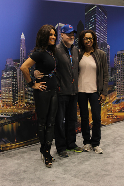 <div class='meta'><div class='origin-logo' data-origin='WLS'></div><span class='caption-text' data-credit=''>ABC7's Cheryl Burton poses with visitors at the 2017 Chicago Auto Show at McCormick Place on Feb. 11, 2017.</span></div>
