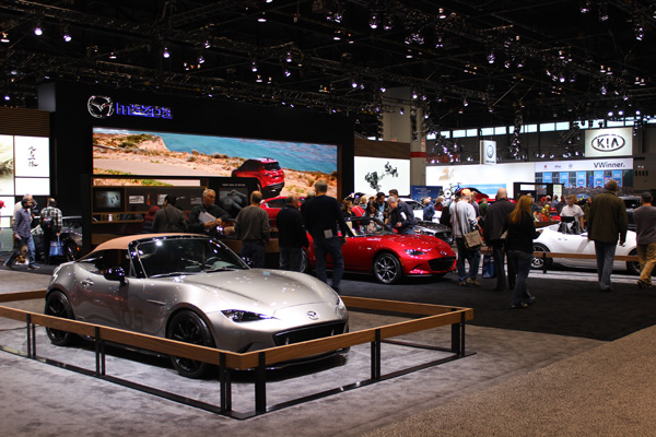 <div class='meta'><div class='origin-logo' data-origin='WLS'></div><span class='caption-text' data-credit=''>The Mazda exhibit at the 2017 Chicago Auto Show at McCormick Place on February 13, 2017.</span></div>