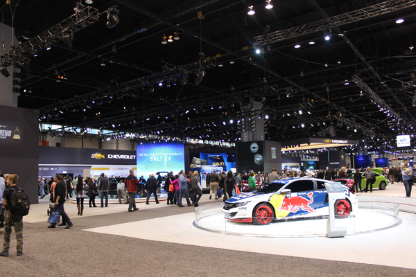 <div class='meta'><div class='origin-logo' data-origin='WLS'></div><span class='caption-text' data-credit=''>The Chevy and Honda exhibits at the 2017 Chicago Auto Show on February 13, 2017.</span></div>