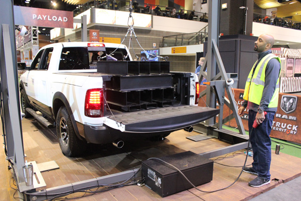 <div class='meta'><div class='origin-logo' data-origin='WLS'></div><span class='caption-text' data-credit=''>Payload test at the RAM Truck Territory at the 2017 Chicago Auto Show on Feb. 13, 2017.</span></div>