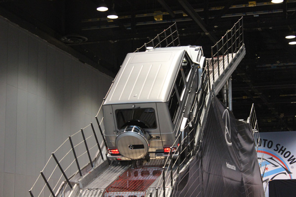 <div class='meta'><div class='origin-logo' data-origin='WLS'></div><span class='caption-text' data-credit=''>The 2017 Mercedes-Benz G-class takes on a 42-degree incline at the 2017 Chicago Auto Show on Feb. 13, 2017.</span></div>