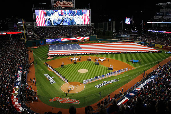 <div class='meta'><div class='origin-logo' data-origin='none'></div><span class='caption-text' data-credit='AP Photo/Gene J. Puskar'>Major League Baseball World Series between the Cleveland Indians and the Chicago Cubs.</span></div>