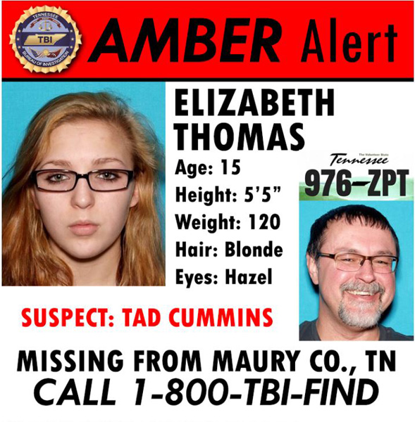 "<div class=""meta image-caption""><div class=""origin-logo origin-image none""><span>none</span></div><span class=""caption-text"">An Amber Alert has been issued for a 15-year-old girl believed to be traveling with a former teacher who police say is armed and dangerous. (Tennessee Bureau of Investigation)</span></div>"