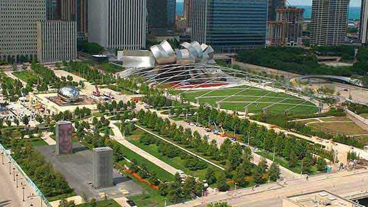 Millennium Park, Chicagos 24-acre, 475 million-dollar urban park, is shown on July 8, 2004, just before it officially opens.