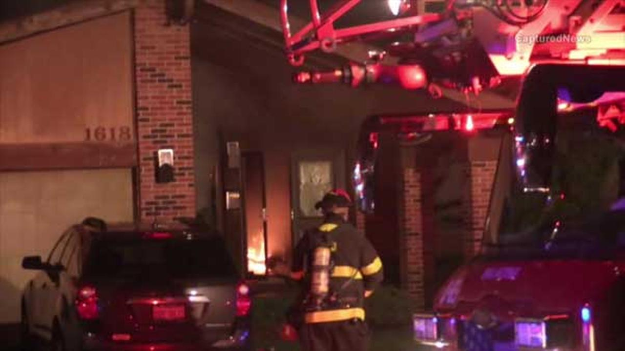 A man died in a house fire in northwest suburban Arlington Heights, police said.
