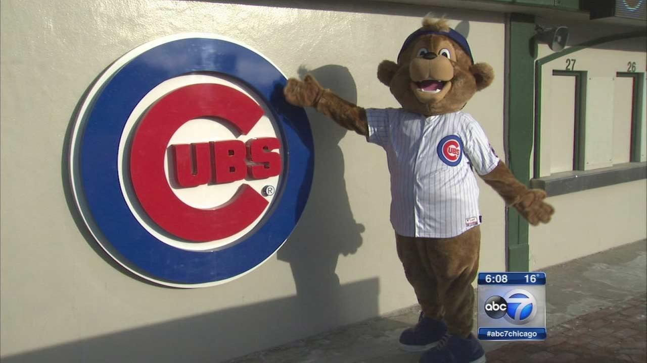 Chicago Cubs mascot Clark the Cub.