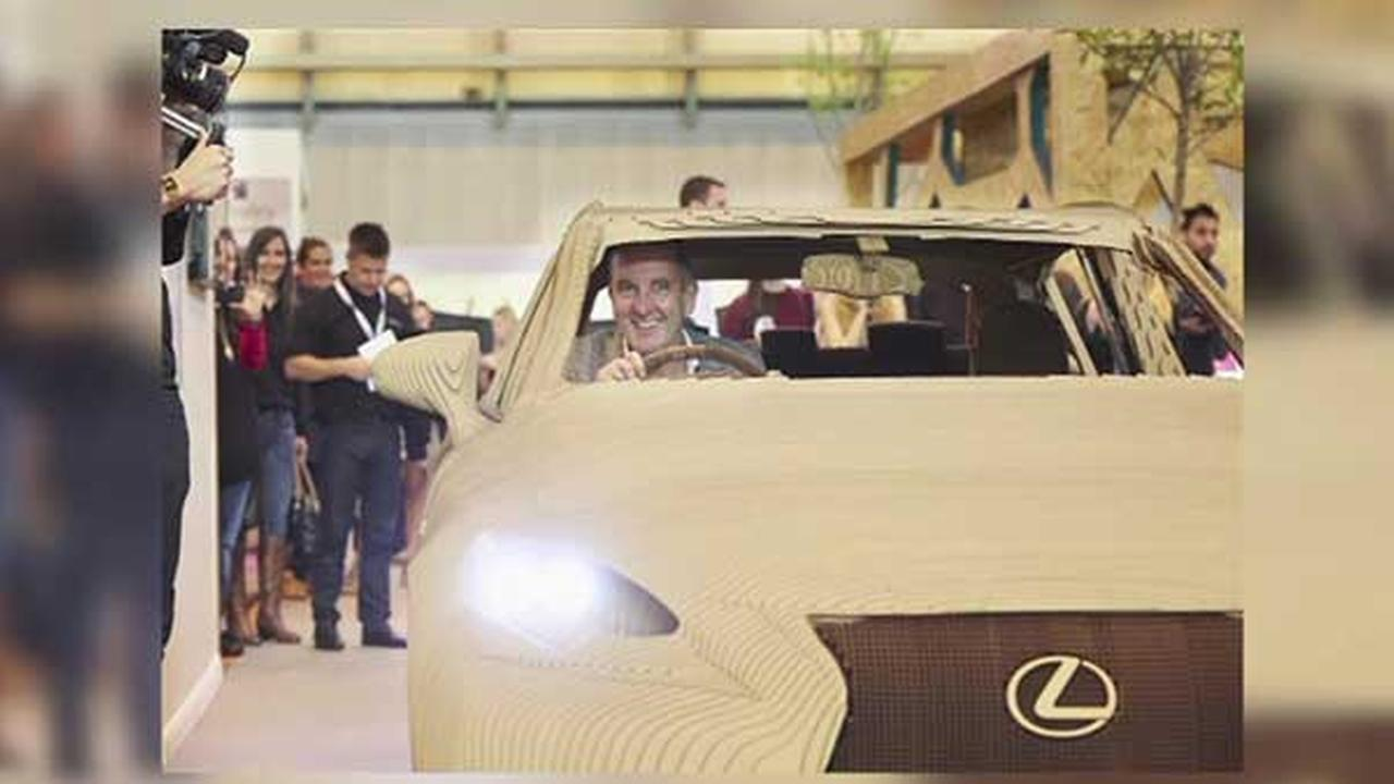 Lexus built a car made entirely of cardboard - and it works!