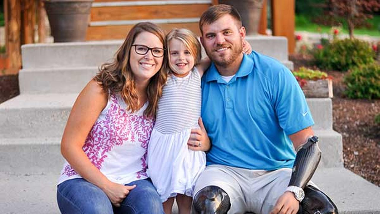 Retired U.S. Army Staff Sergeant Travis Mills is one of only five servicemen from the wars in Iraq and Afghanistan to survive his injuries as a quadruple amputee.