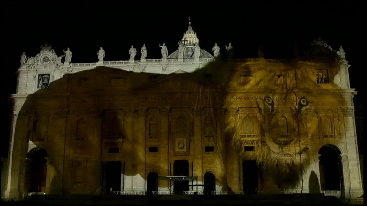 PHOTOS: Climate change images projected onto St. Peter's Basilica