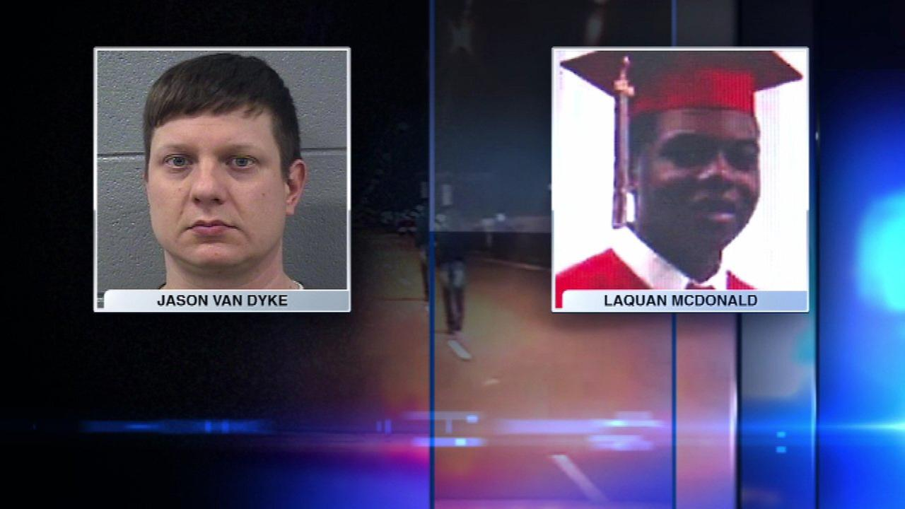 Jason Van Dyke and Laquan McDonald (FILE)