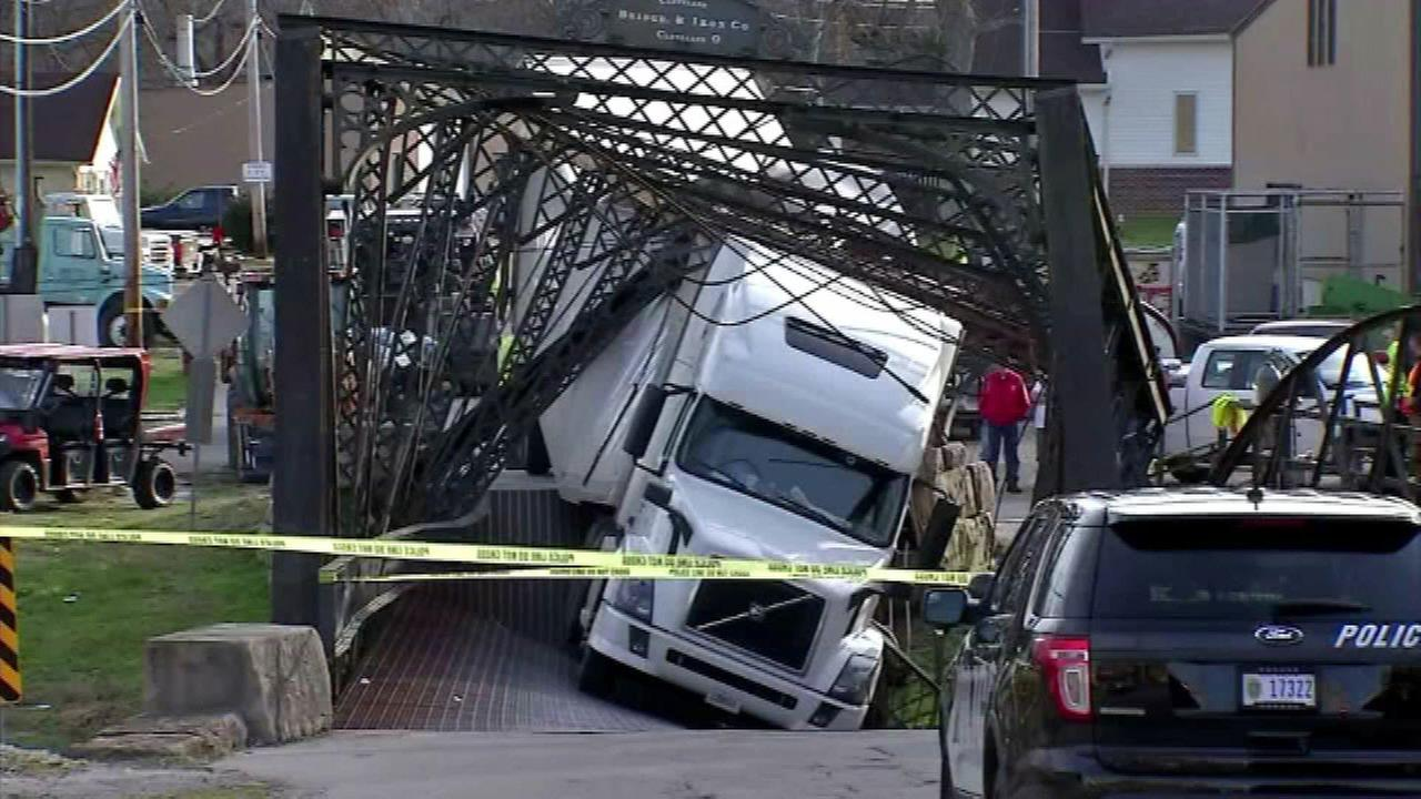 A bridge collapse in Paoli, Ind.