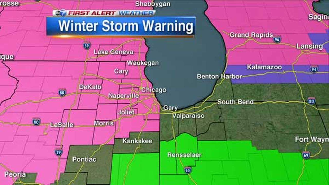 Winter Storm Warning: Chicago Weather: Winter Storm Warning In Effect; Freezing