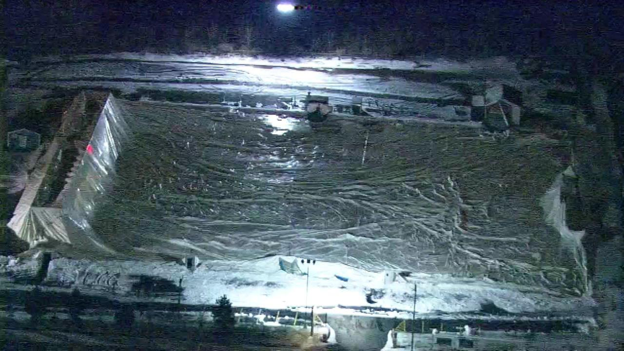 Sport Zone Park in Aurora is working to fix its deflated dome after it was flattened.