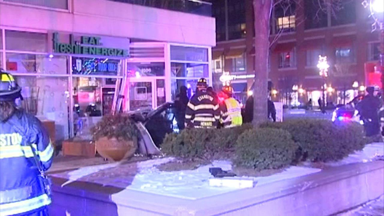 Car crashes into Freshii in Evanston