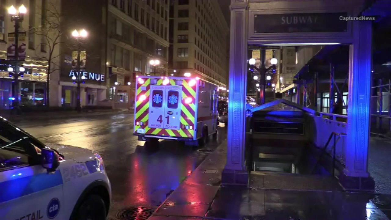 Man stabbed at Loop Red Line station