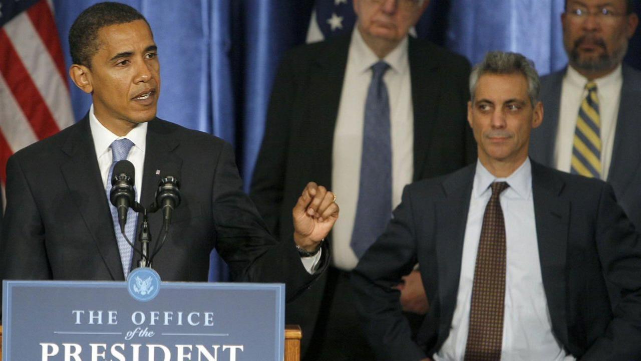 President Barack Obama and Rahm Emanuel.