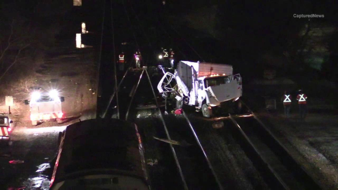 Amtrak train hits truck in Lisle; 2 injured