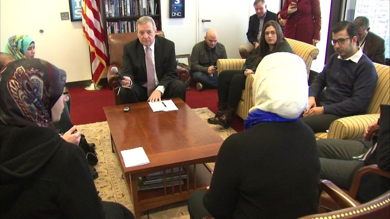 Sen. Durbin meets with refugees ahead of Senate bill vote