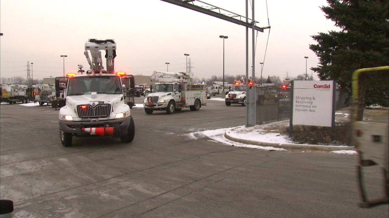 ComEd crews head East to help with snowstorm aftermath